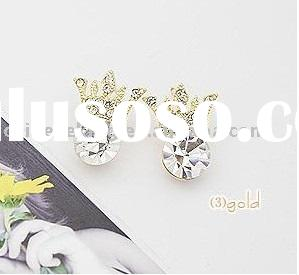 fashion crystal stone earring, bling bling POP jewelry
