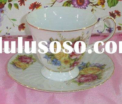 flower cup and saucer ceramic planter