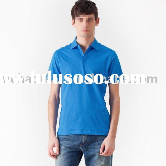 high quality men's fashion polo shirt without printed