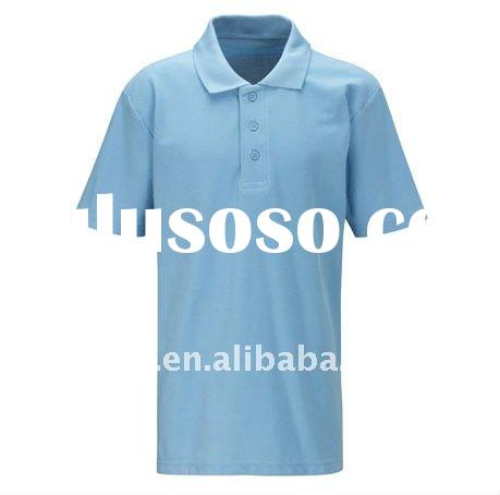 mens basic plain polo shirt, blue polo shirt