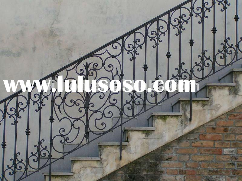 Outdoor Wrought Iron Stair Railing Staircase Parts Handrails