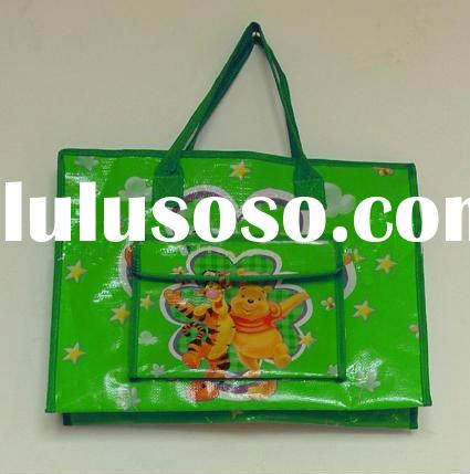 plastic handle promotional cheap logo tote bag