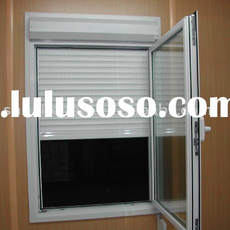Manual casement type vinyl roller shutter window for sale for Vinyl window manufacturers