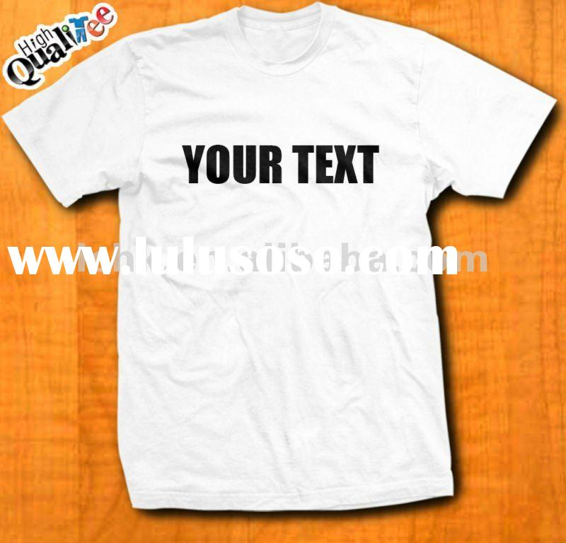 2011 new arrival design custom t shirt with silk screen for Custom t shirt cost