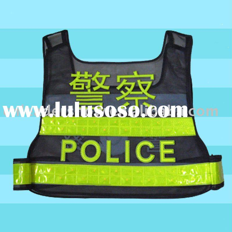 2010 new design advertising police reflective vest