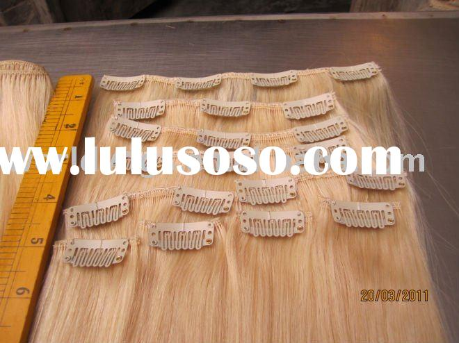 2011 hot sale remy human hair clip in extension