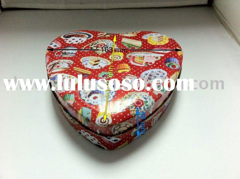 2011 valentine heart shaped candy metal sweet box