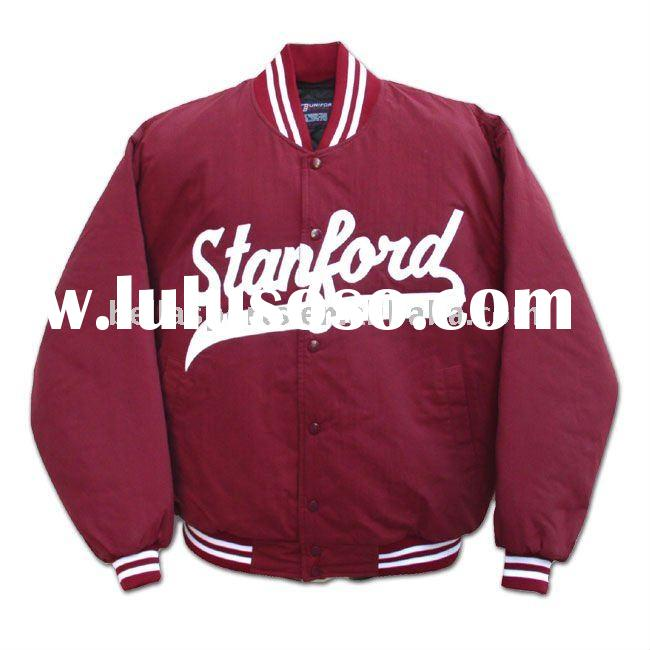 2012 Customized Fashion Kids 100% Polyester quilted Baseball Jacket