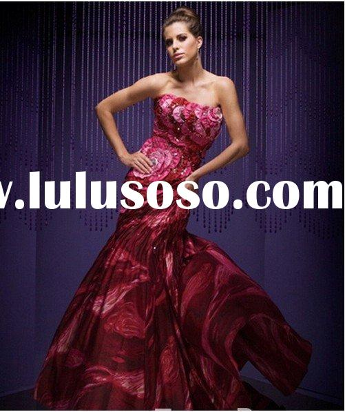 2012 Latest red prom dress designs