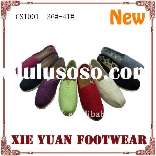 2012 Most popular cheap canvas shoes women
