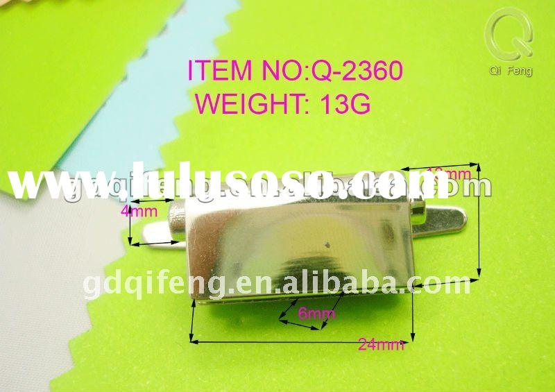 2012 qifeng lock for leather bag, accesorie leather bag, stainless steel clasps for leather bagwalle