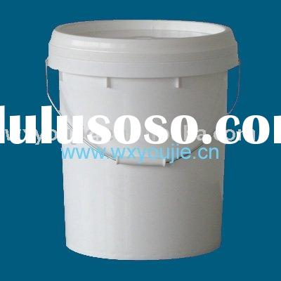 20L (5 gllon)plastic round bucket with handle for liquid