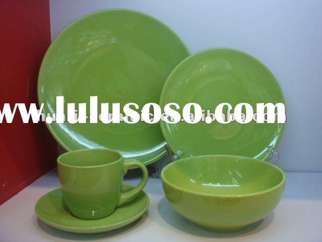 20pcs green color ceramic dinnerware set