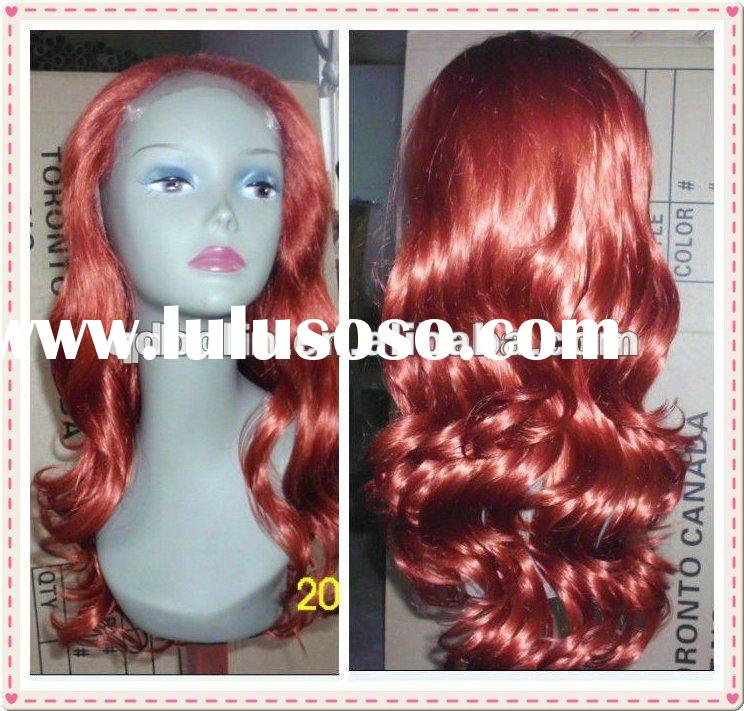 24 inch Maroon Lace front Synthetic Wig