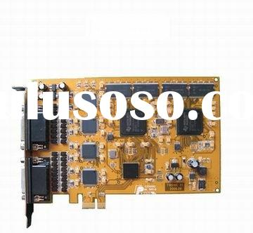 4, 8, 16, 32, 64 Channel Video/Audio Real Time Hardware Compression DVR card, PCI-E CCTV video captu