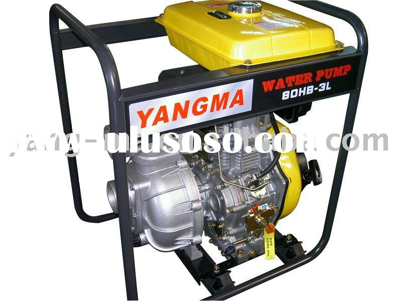 80HB-3LE,3 inch Air cooled engine power high pressure diesel water pump