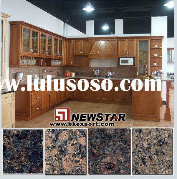 Solid american cherry wood kitchen cabinets kitchen for Cherry wood kitchen cabinets price