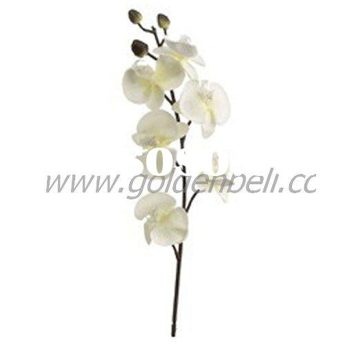 Artificial Phalaenopsis Orchid Spray in White