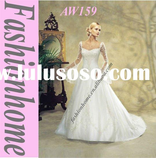 Attractive Victorian wedding gown , 2011 princess wedding dress , Bride dress AW159