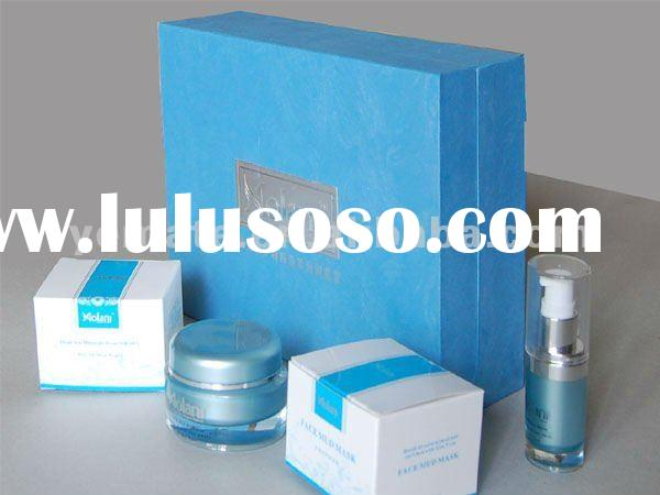 Blue color Cosmetic brands box for cream --CB-5