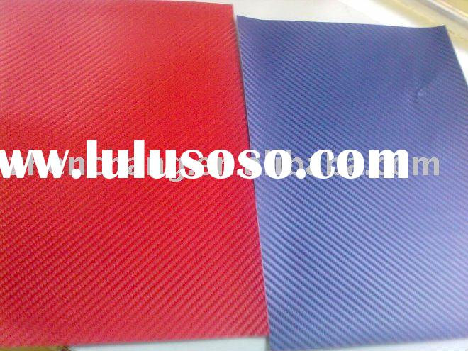 Blue&red carbon fiber sticker car wrap