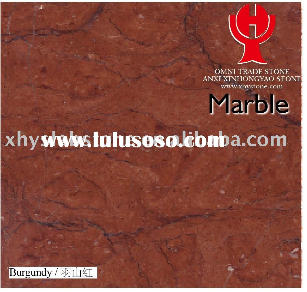 Burgundy Red Marble Stone