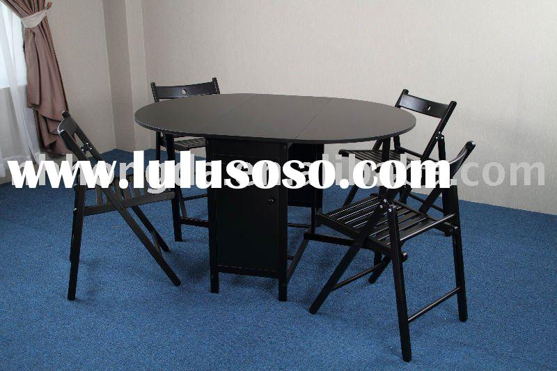 Butterfly Wooden Dining Set, one table and 4 foldable chairs