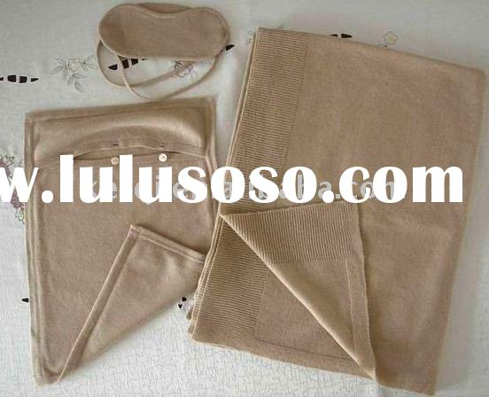 Cashmere Travel Sets(eyemask/throw/pillow cover)
