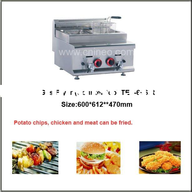 Commercial Double Tank Gas Deep Fryer (6+6)L (Counter-top)