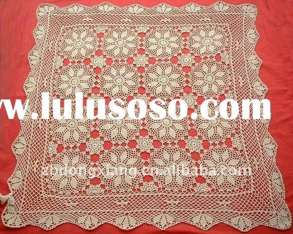Crocheted decorative round table cloth/ table cover
