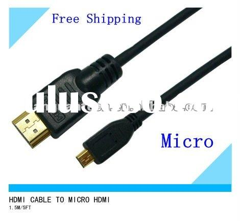 D Type HDMI Micro high speed 1080p 1.5m/5ft