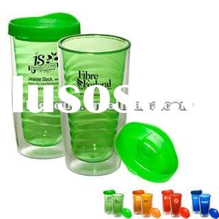 Double wall acrylic tumbler with clear inner wall are BPA free. Great for any type of drinks, keeps