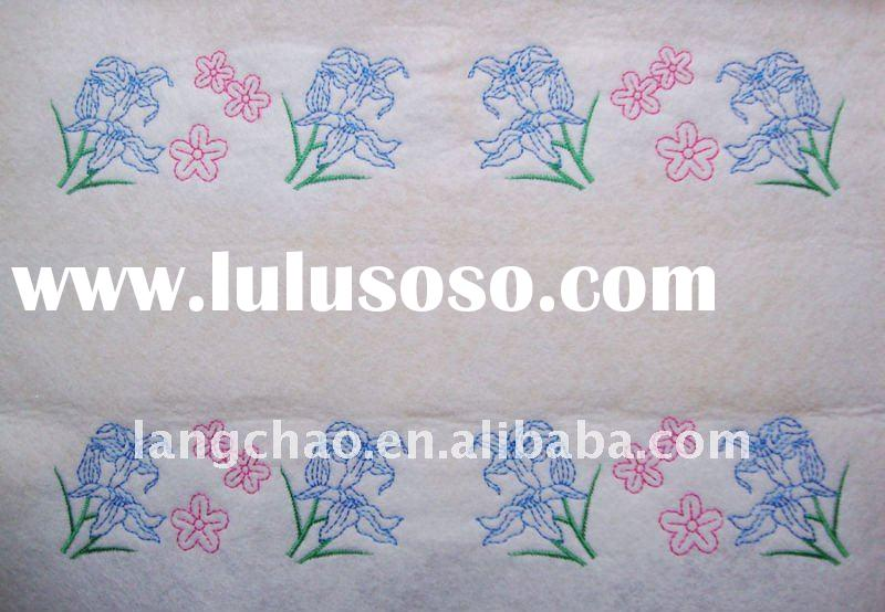 Embroidery design bed sheet