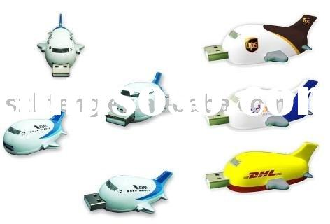 Factory directly sale silicone Airplane USB Flash Drive