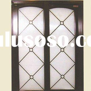 Fashionable and beautiful Glass wooden door wooden glass door designs glass wooden sliding door