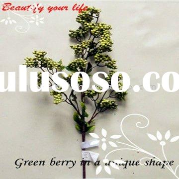 Fresh Spring Artificial Green Berry Sprays for arragement