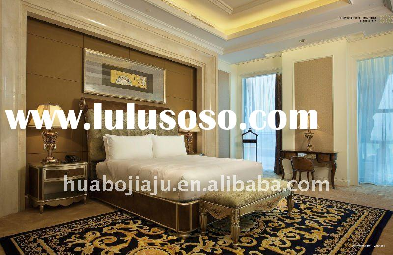 Hotel luxury bedroom set(Malaysia rubber wood silver paint HB-402-433138)