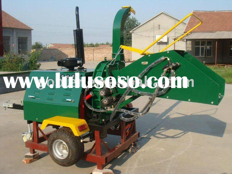 Hydraulic feeding system, industrial truck wood chipper/shredder with 40HP CE/EPA diesel engine