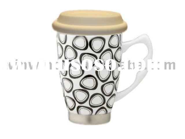 Insulated Ceramic Travel Coffee Mug