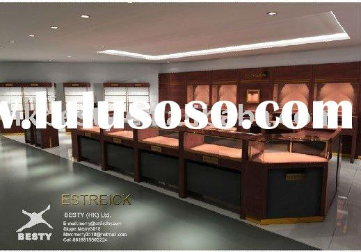 LED luxury jewelry store design and retail store furnitures