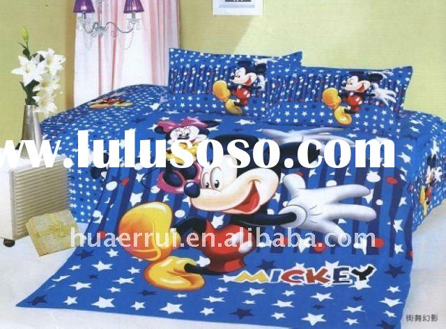 Mickey mouse bedding set/bed sheet