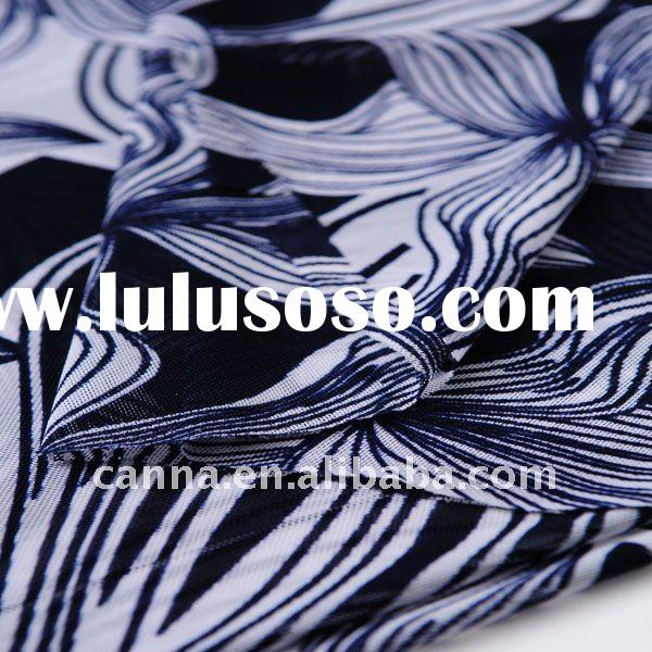 Netting fabric wiht print