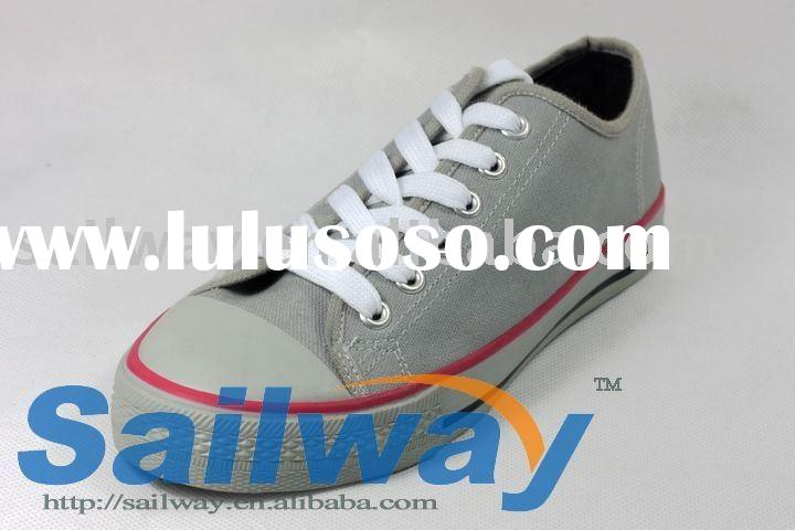 New Low Top Canvas Sneakers Men Shoes All Sizes Dark Grey