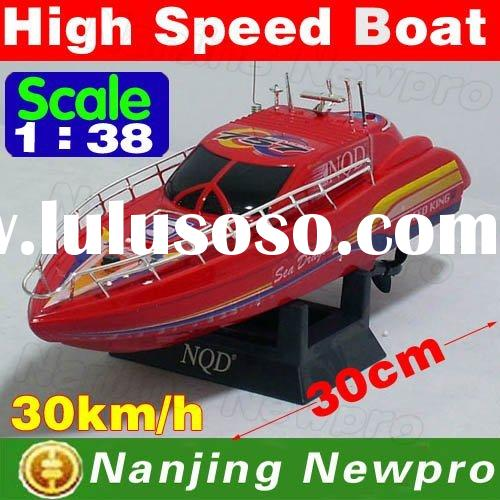 New arrival! 30 cm 1:38 rc mini boat remote control RC racing speed boat with high capacity recharge