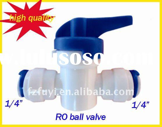 Plastic mini quick release connector water filters two ways ball valve
