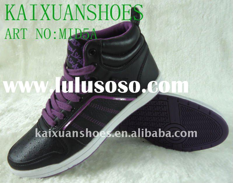 Popular women skate shoes,skate board,china shoes,mid-cut skate shoes,girl's skate shoes