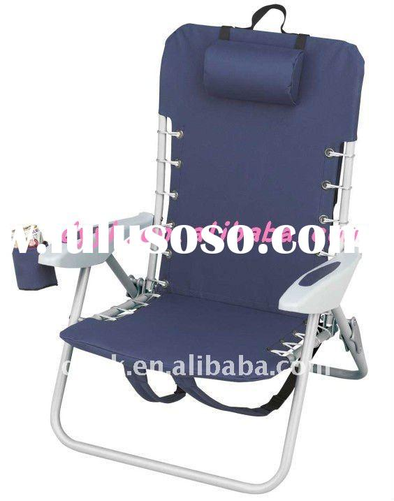 Portable beach chair with cup
