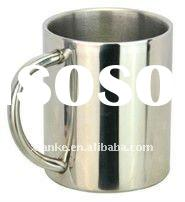 Stainless Steel Double Wall Cup with Hollow Pipe Handle in 11oz,13oz,14oz,16oz,18oz
