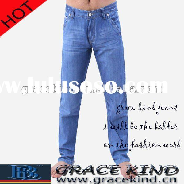 Stock Denim Blue Jeans For Men ,Cheap Men Jeans Brand (GK313)