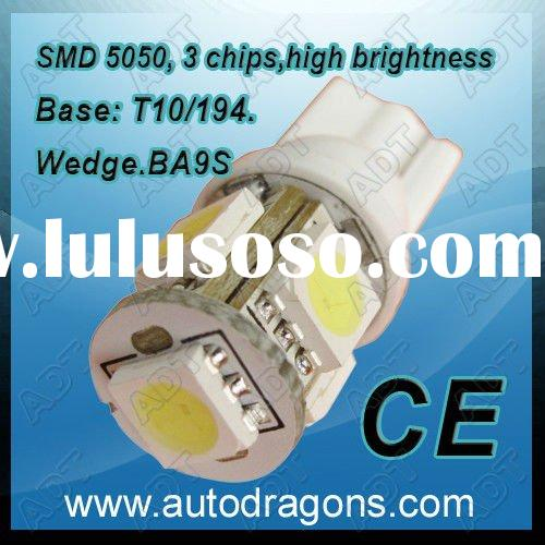 T10 Wedge 5-SMD 5050 LED Light Bulbs HID Xenon White 192 168 194 W5W